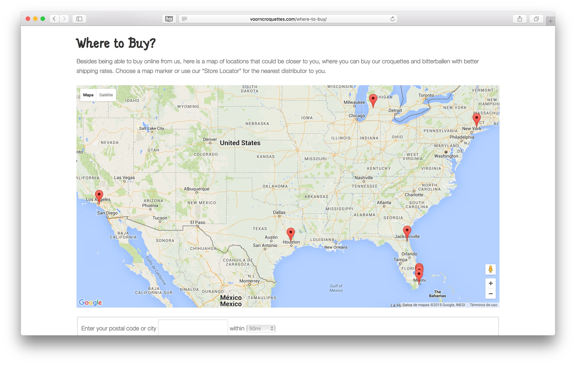 Voorn Croquettes Where to Buy Map > Soluciones iO